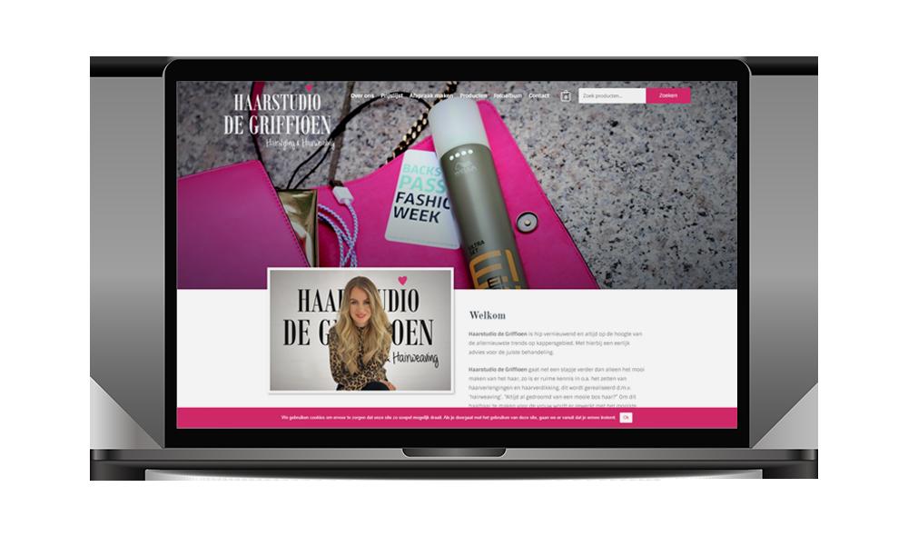 Webdesign Haarstudio De Griffioen